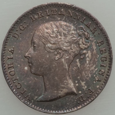 Threepence 1859 (Circulating): Photo Great Britain 1859 3 pence