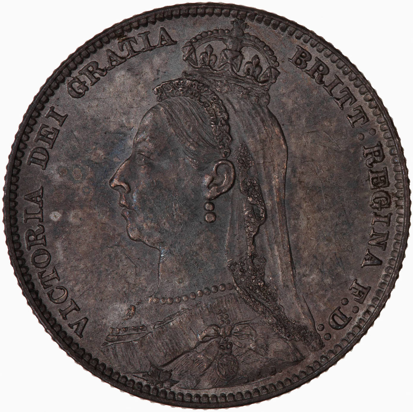 Shilling Shield: Photo Coin - Shilling, Queen Victoria, Great Britain, 1890