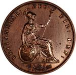 Halfpenny 1860 (Large): Photo Proof Coin - Halfpenny, Queen Victoria, Great Britain, 1860