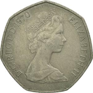 United Kingdom / Fifty Pence 1970 - obverse photo