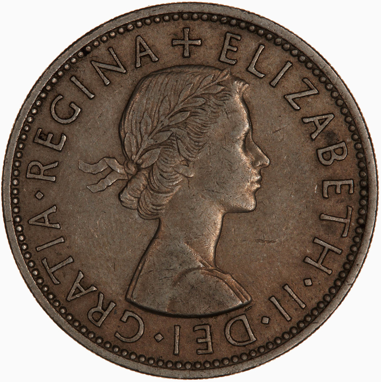 Two Shillings (Florin) 1954: Photo Coin - Florin (2 Shillings), Elizabeth II, Great Britain, 1954