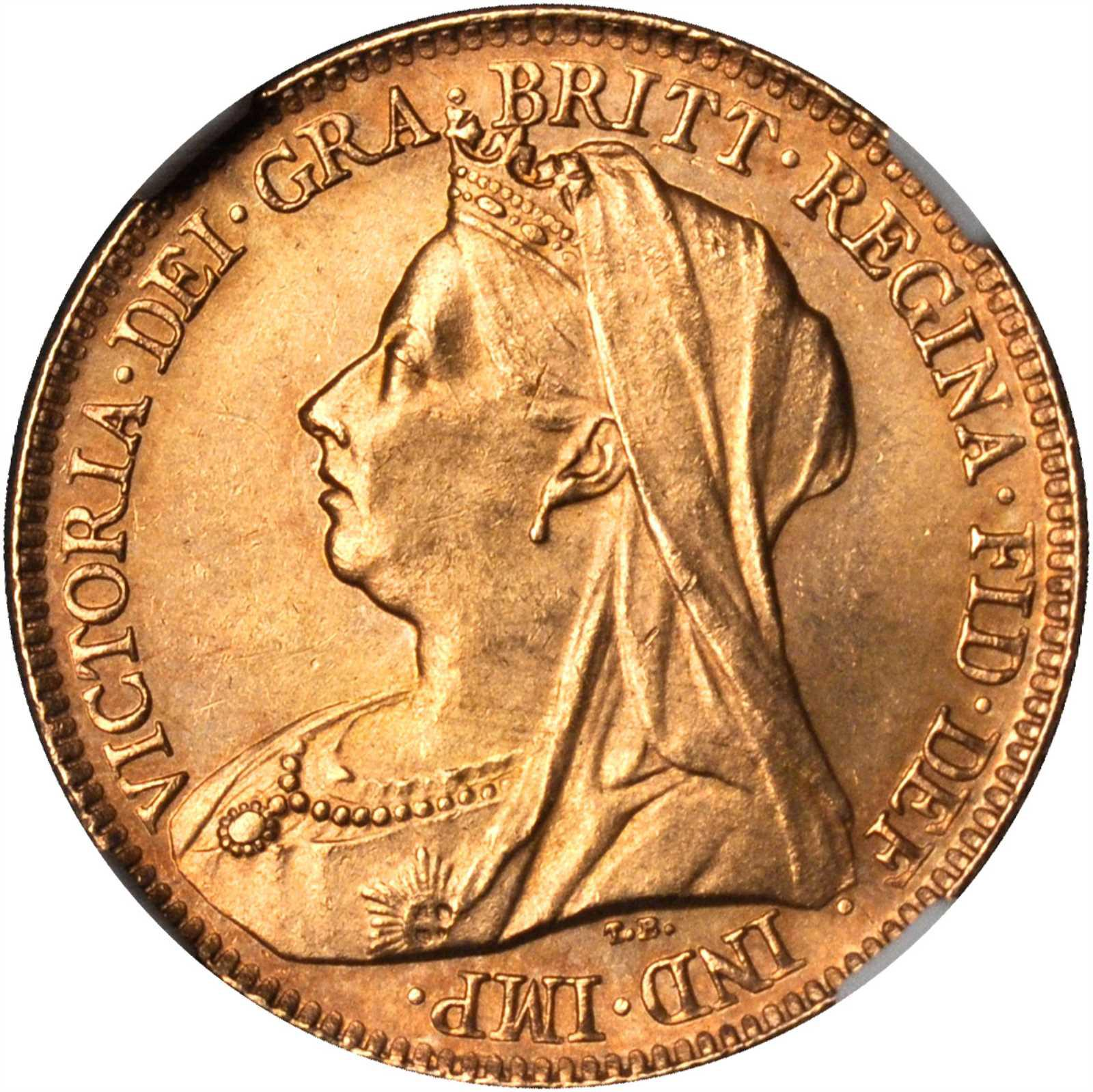 Half Sovereign (Pre-decimal): Photo Great Britain 1896 1/2 sovereign