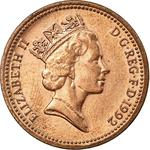 United Kingdom / One Penny 1992 - obverse photo