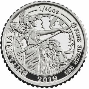 United Kingdom / Silver Fortieth-Ounce (1/40 oz) - reverse photo