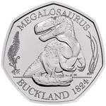 United Kingdom / Fifty Pence 2020 Megalosaurus / Brilliant Uncirculated in presentation folder - reverse photo