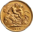 Half Sovereign 1914: Photo Great Britain 1914 1/2 sovereign