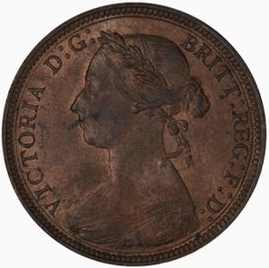 United Kingdom / Halfpenny 1883 - obverse photo