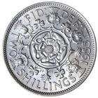 United Kingdom / Two Shillings (Florin) 1955 - reverse photo