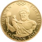 United Kingdom / Gold Quarter Ounce 2012 Vulcan - reverse photo
