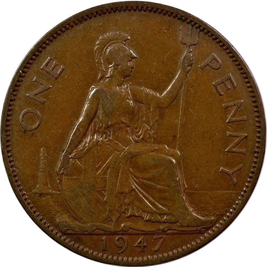 Penny 1947: Photo Great Britain - Penny - 1947