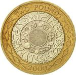 United Kingdom / Two Pounds 2000 Technology - reverse photo