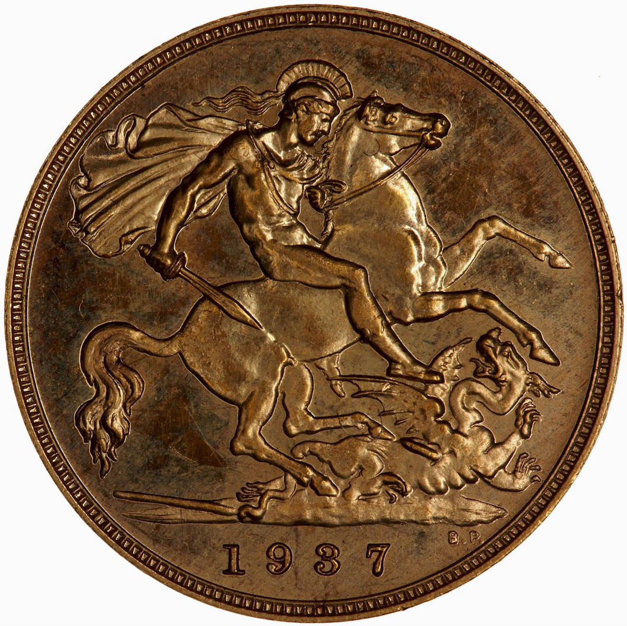Half Sovereign 1937 (Proof only): Photo Proof Coin - Half-Sovereign, George VI, Great Britain, 1937