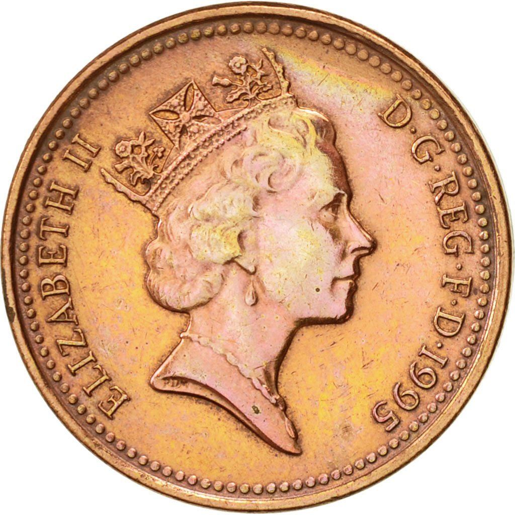 One Penny 1995: Photo Great Britain, Elizabeth II, Penny, 1995