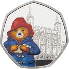 United Kingdom / Fifty Pence 2019 Paddington Bear at the Tower / Silver Proof FDC - reverse photo