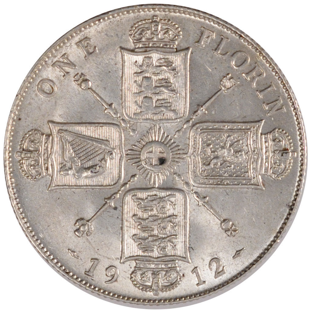 Florin 1912: Photo Great Britain, Florin, Two Shillings, 1912