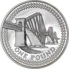 United Kingdom / One Pound 2004 Forth Railway Bridge / Silver Proof FDC - reverse photo