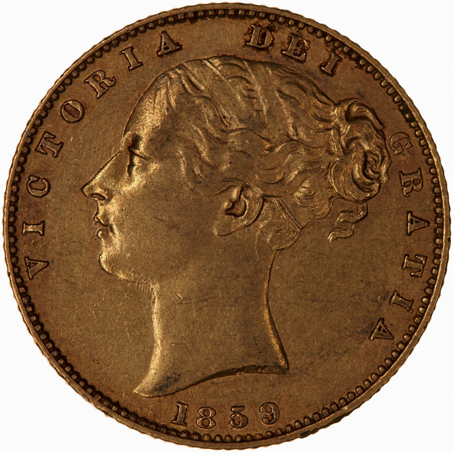 Sovereign 1859: Photo Coin - Sovereign (Ansell), Queen Victoria, Great Britain, 1859