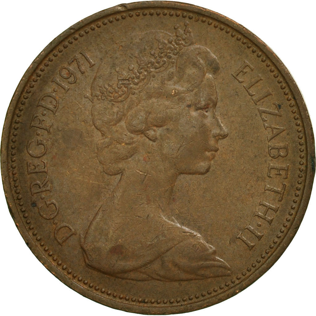 Two Pence 1971: Photo Coin, Great Britain, Elizabeth II, 2 New Pence, 1971