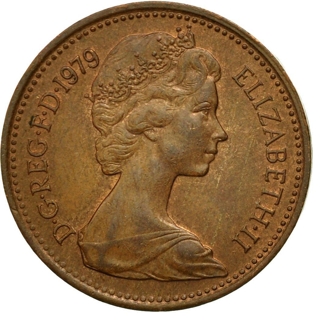 One Penny 1979: Photo Coin, Great Britain, Elizabeth II, New Penny, 1979