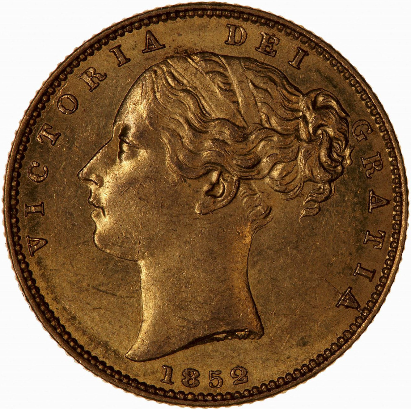 Sovereign (Pre-Decimal): Photo Coin - Sovereign, Queen Victoria, Great Britain, 1852
