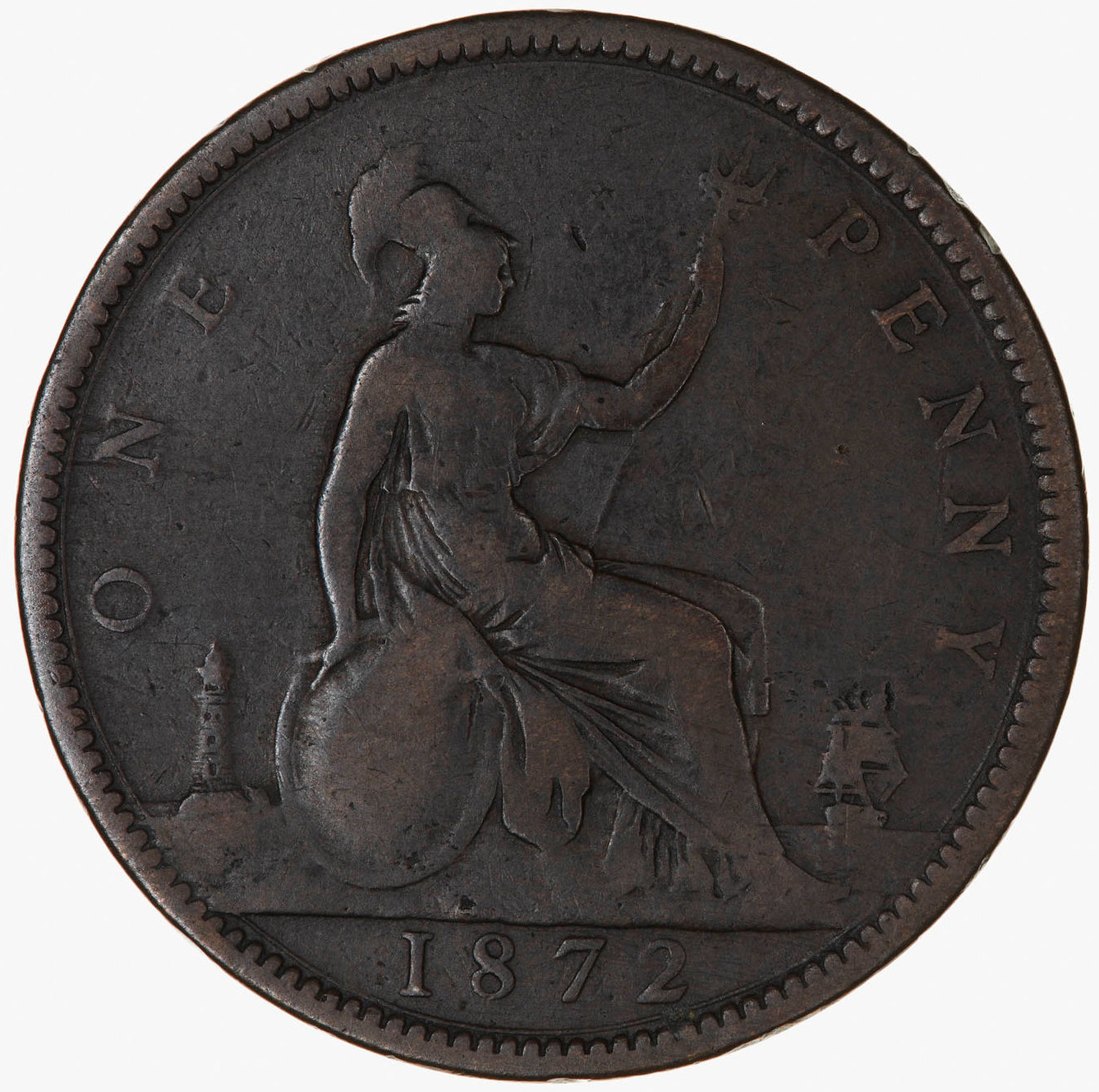 Penny 1872: Photo Coin - Penny, Queen Victoria, Great Britain, 1872