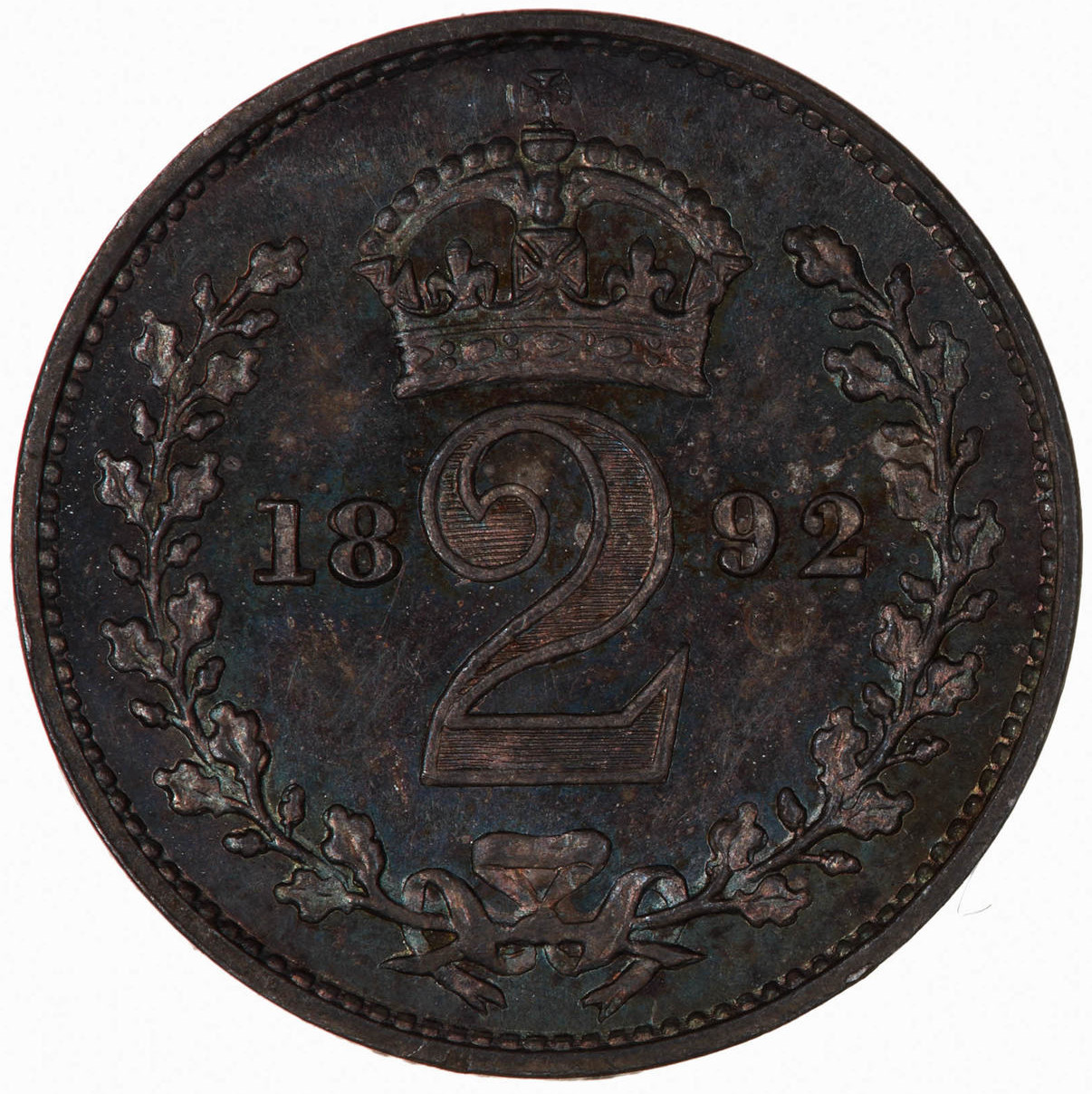 Twopence 1892 (Maundy): Photo Coin - Twopence (Maundy), Queen Victoria, Great Britain, 1892