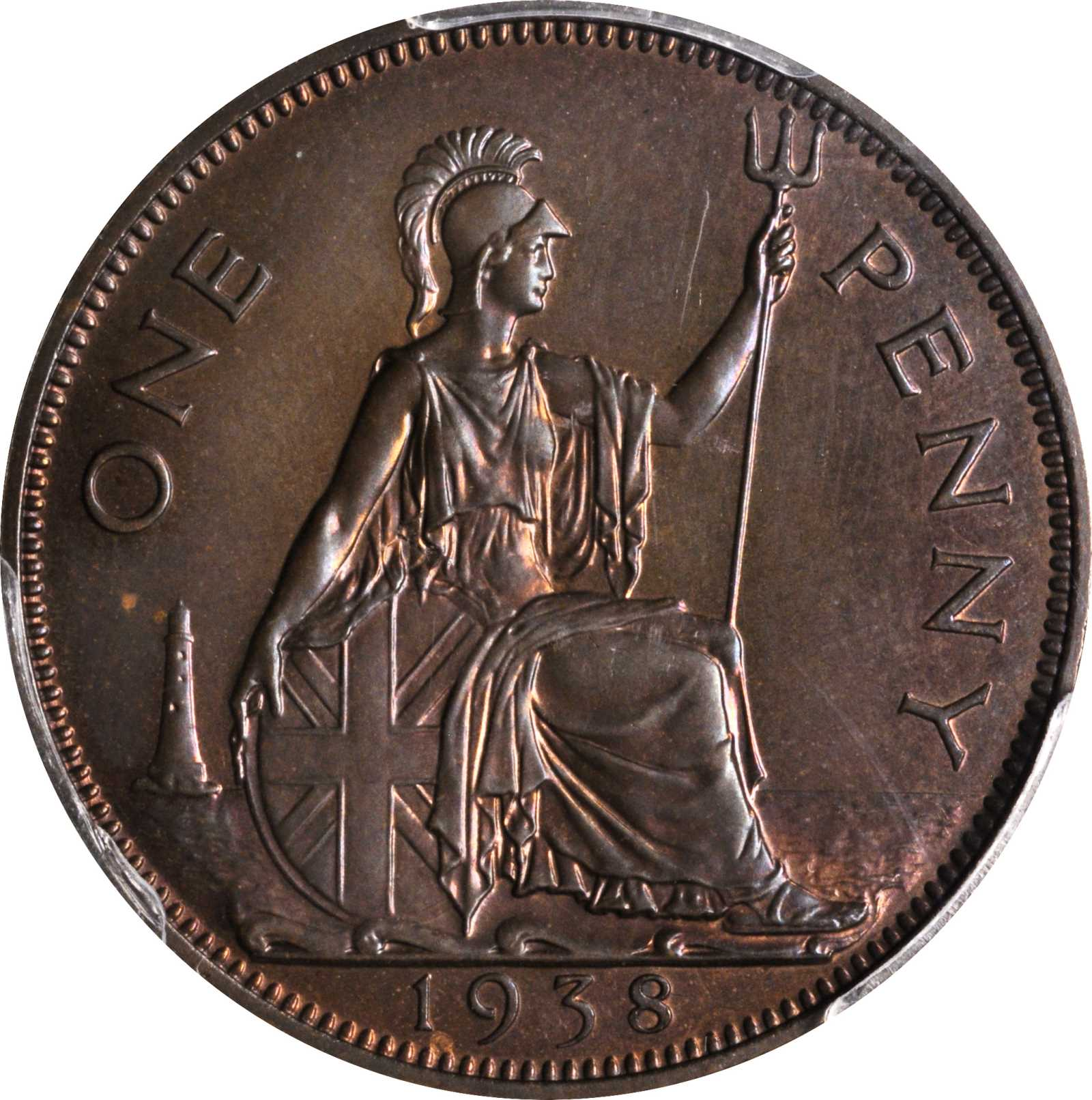 Penny (Pre-decimal): Photo Great Britain 1938 penny