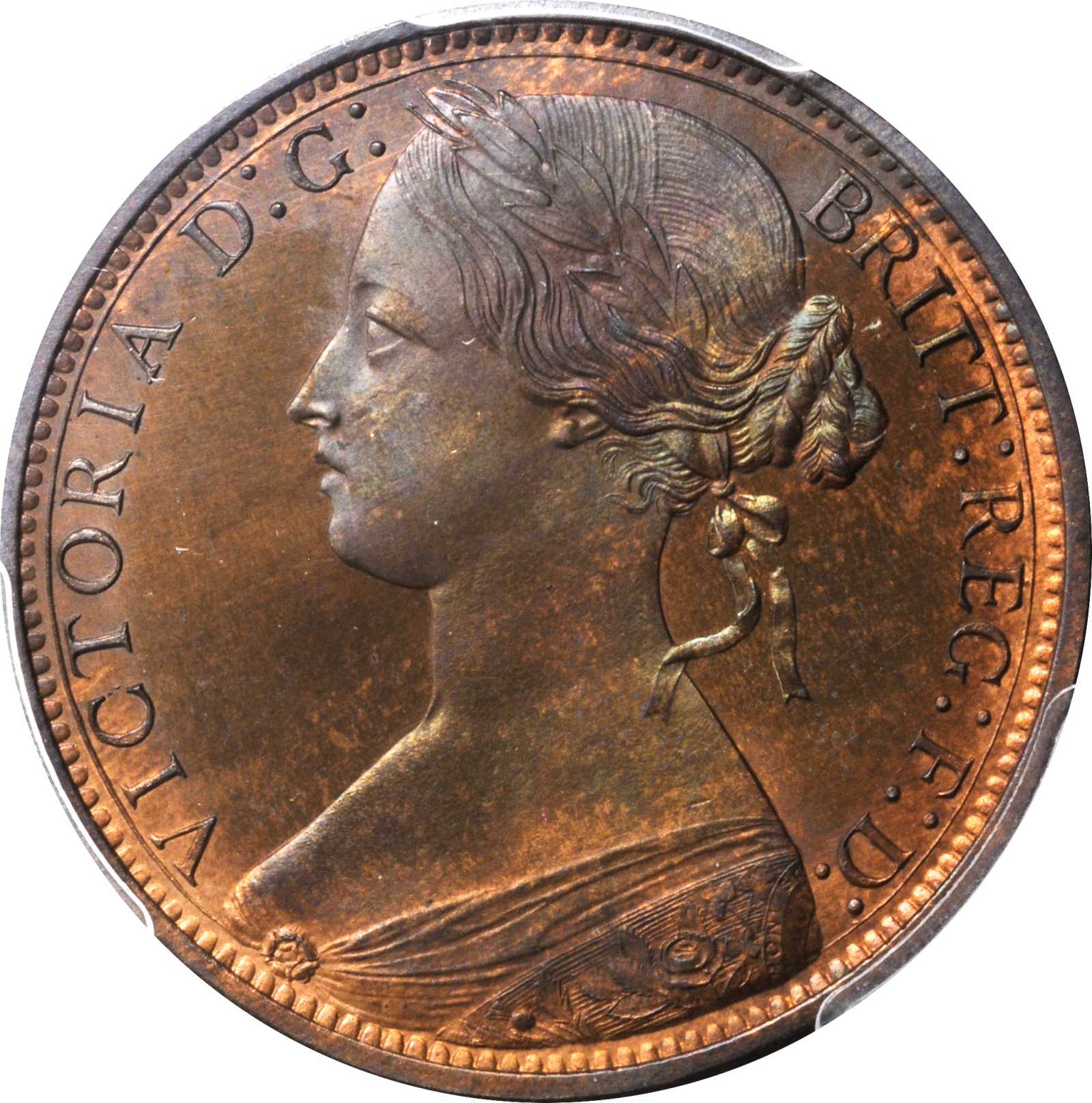 Penny 1861: Photo Great Britain 1861 penny