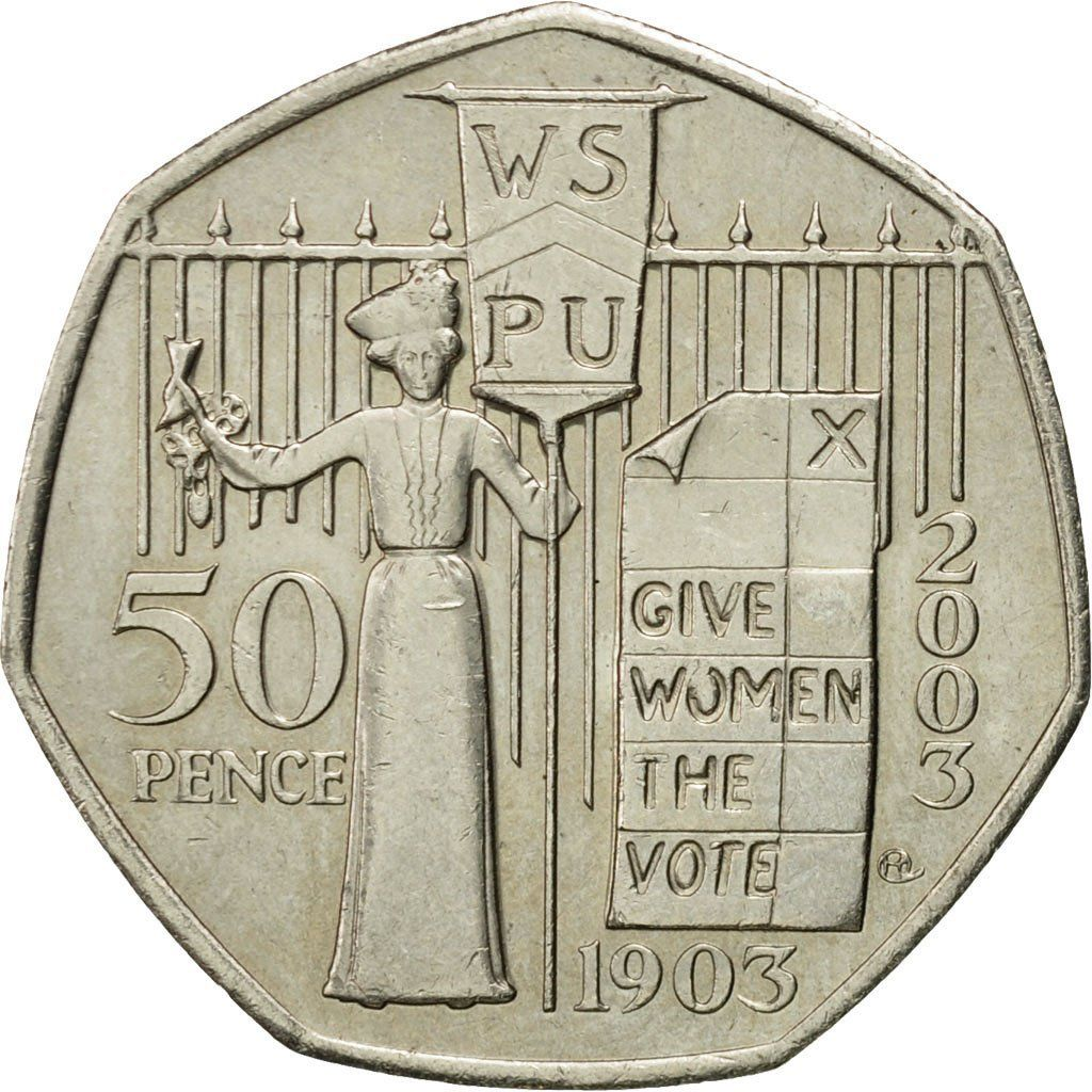 Fifty Pence 2003 (Suffragettes): Photo Coin, Great Britain, Elizabeth II, 50 Pence, 2003