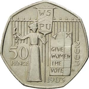 United Kingdom / Fifty Pence 2003 Suffragettes - reverse photo