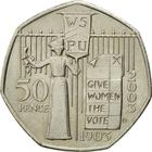 United Kingdom / Fifty Pence 2003 (Suffragettes) - reverse photo