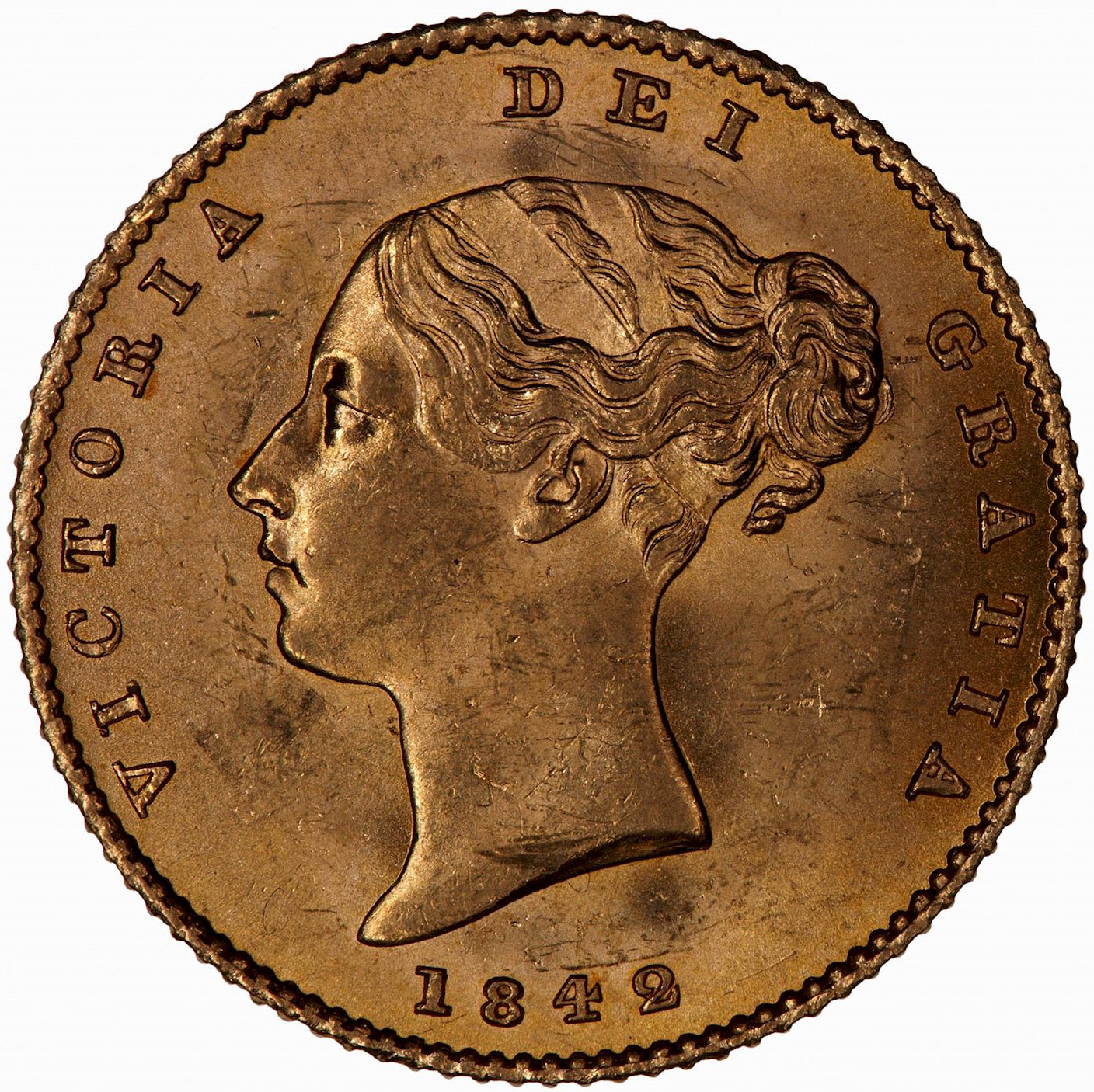 Half Sovereign 1842: Photo Coin - Half-Sovereign, Queen Victoria, Great Britain, 1842