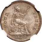 Fourpence 1888: Photo Great Britain 1888 4 pence