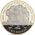 United Kingdom / Two Pounds 2016 Great Fire of London - reverse photo