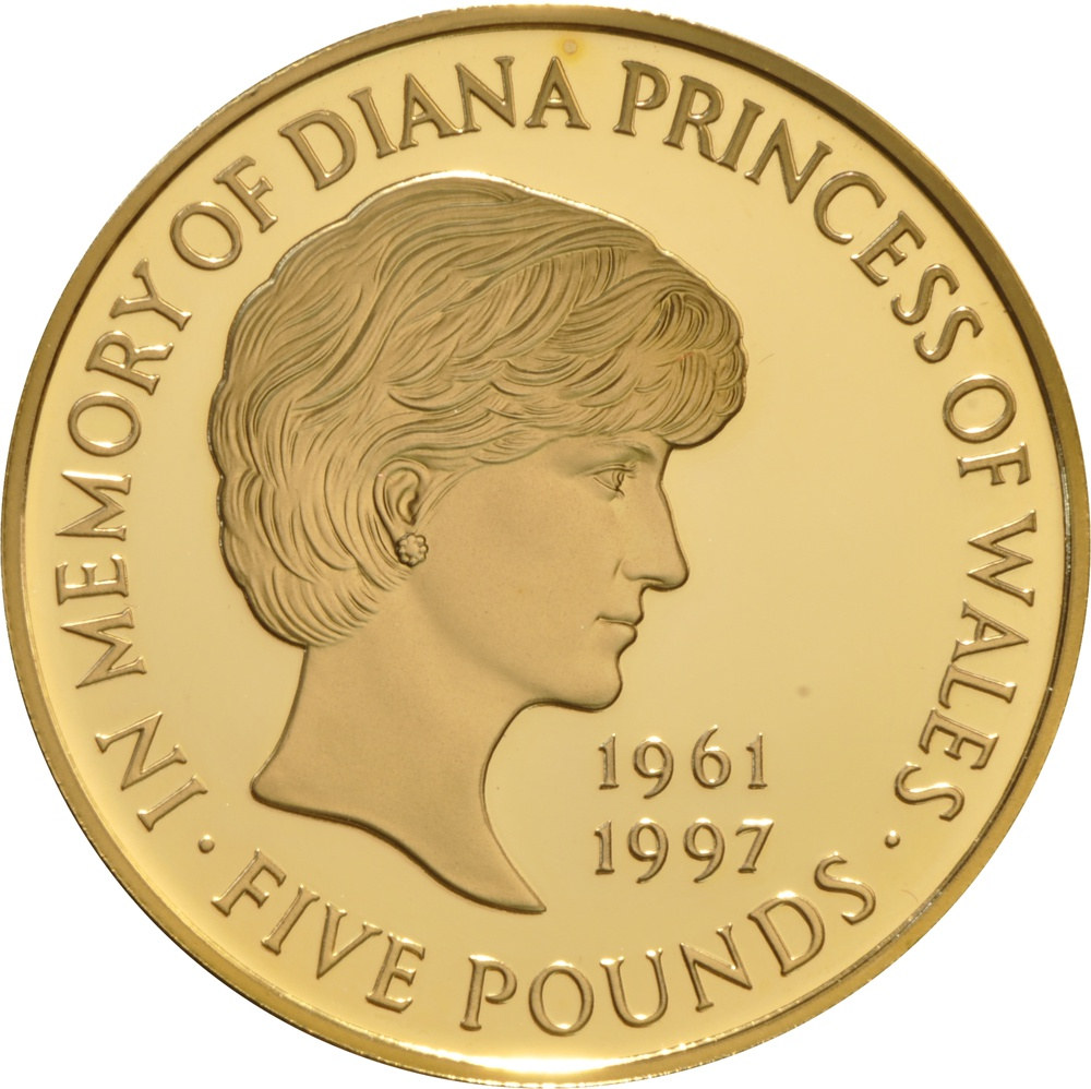 lady diana five pound coin