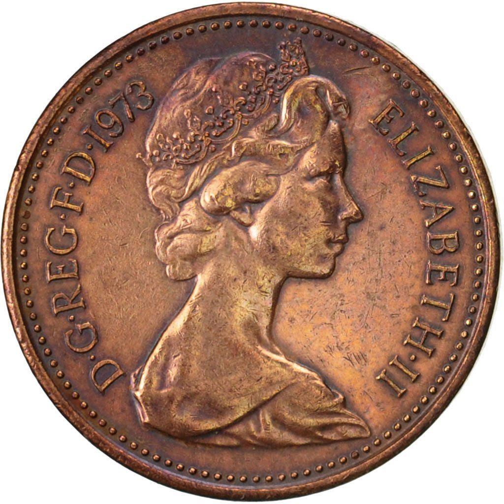One Penny 1973: Photo Great Britain, Elizabeth II, New Penny, 1973