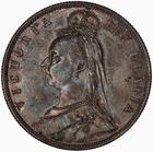 United Kingdom / Halfcrown 1887 Jubilee Head - obverse photo