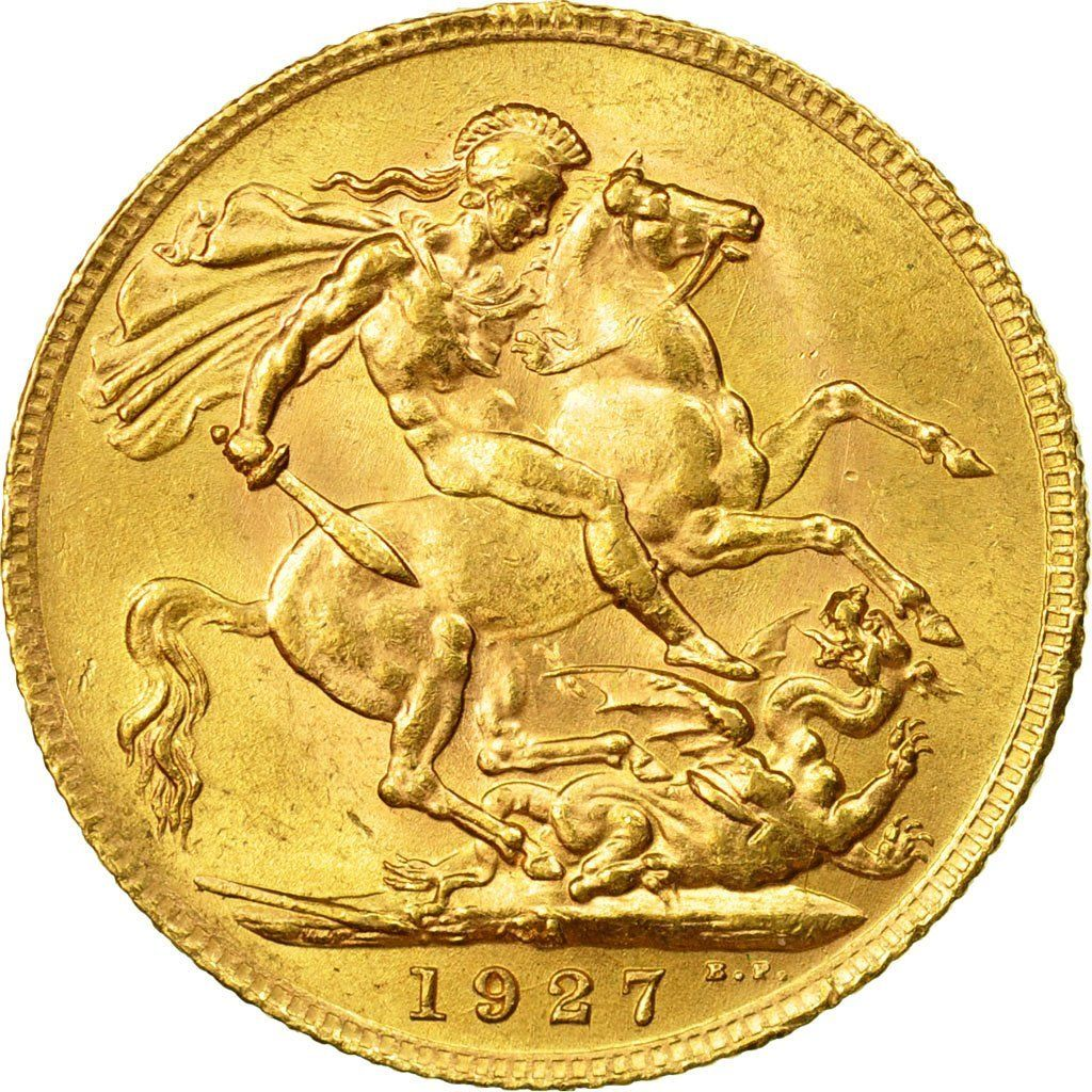 Sovereign 1927: Photo South Africa, George V, Sovereign, 1927