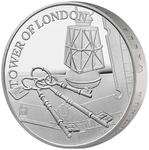 United Kingdom / Five Pounds 2019 Ceremony of the Keys / Silver Proof Piedfort - reverse photo