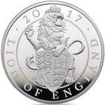 United Kingdom / Silver Ten Ounces 2017 Lion of England - reverse photo