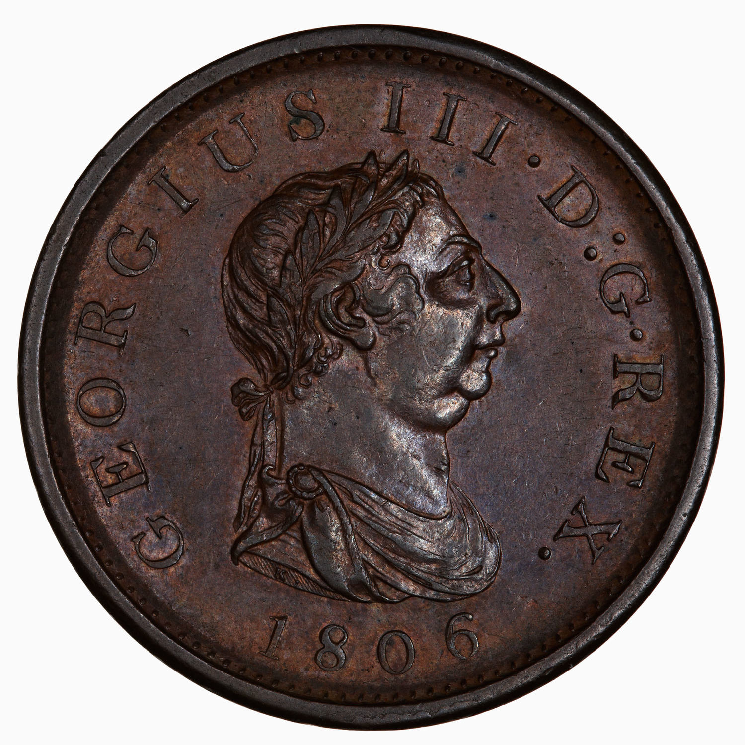 Penny (Pre-decimal): Photo Coin - Penny, George III, Great Britain, 1806
