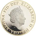 United Kingdom / Two Pounds 2016 Great Fire of London - obverse photo