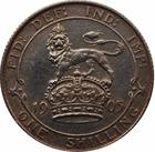 Shilling 1905: Photo Silver shilling, Great Britain, 1905
