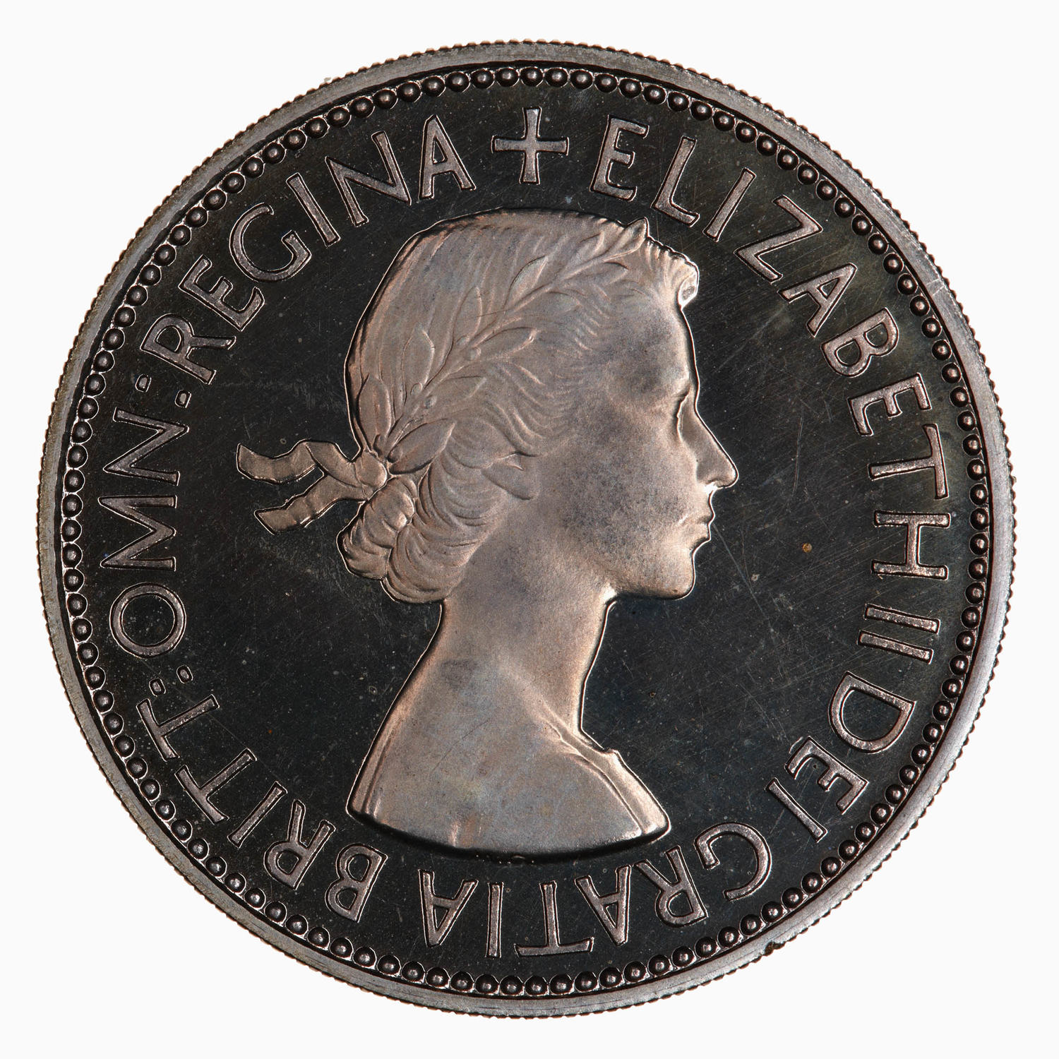 Florin: Photo Proof Coin - Florin, Elizabeth II, Great Britain, 1953