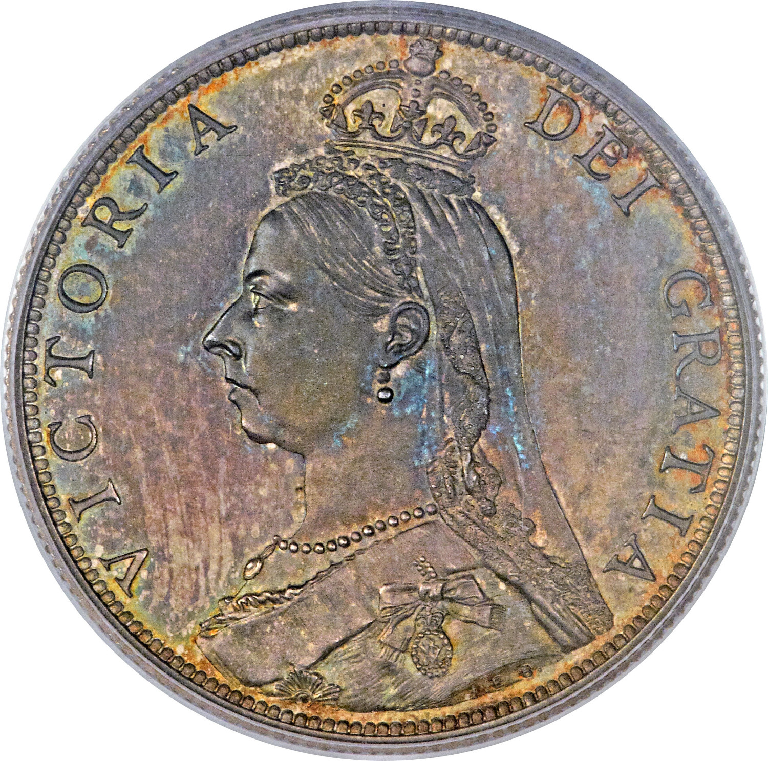 Florin: Photo Great Britain 1887 florin KM-762