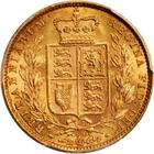 Sovereign 1872 Shield: Photo Great Britain 1872 sovereign Fr-387i