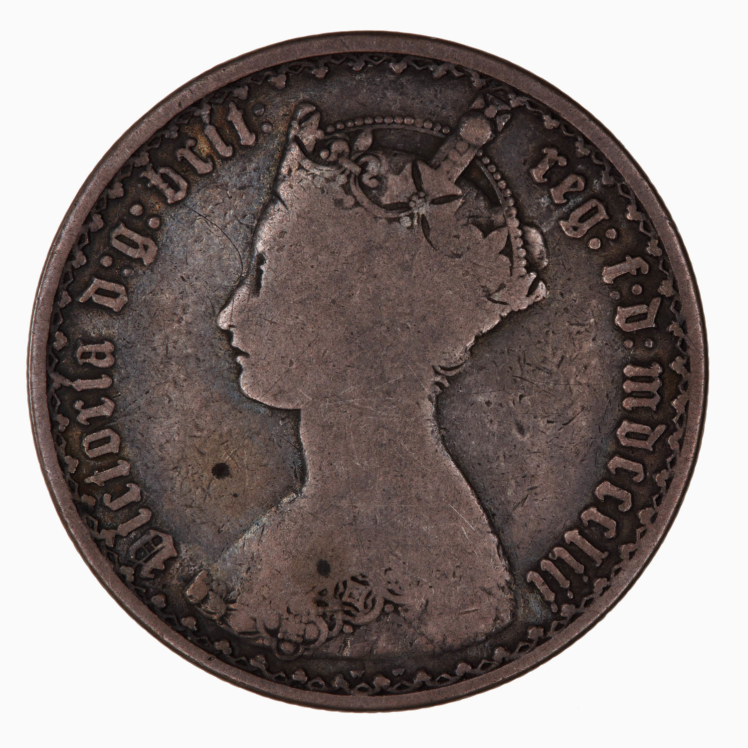 Florin 1853: Photo Coin - Florin, Queen Victoria, Great Britain, 1853