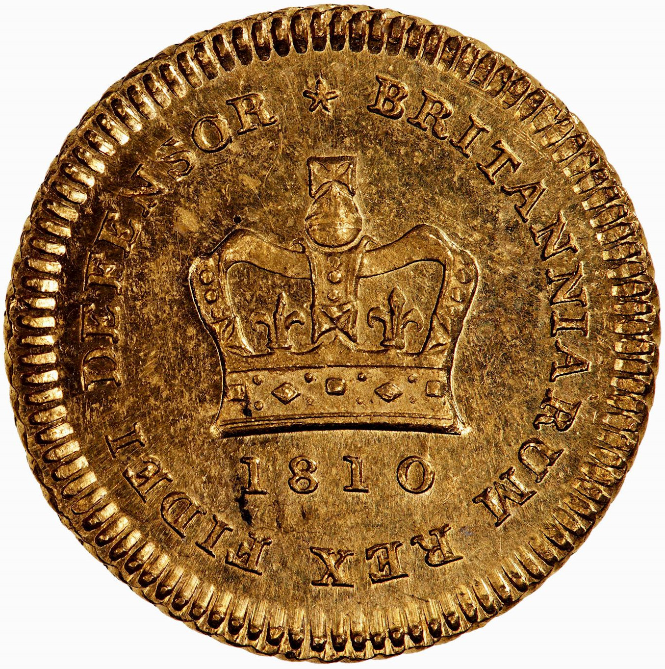 Third Guinea 1810: Photo Coin - Third-Guinea, George III, Great Britain, 1810