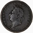 Penny 1825: Photo Coin - Penny, George IV, Great Britain, 1825