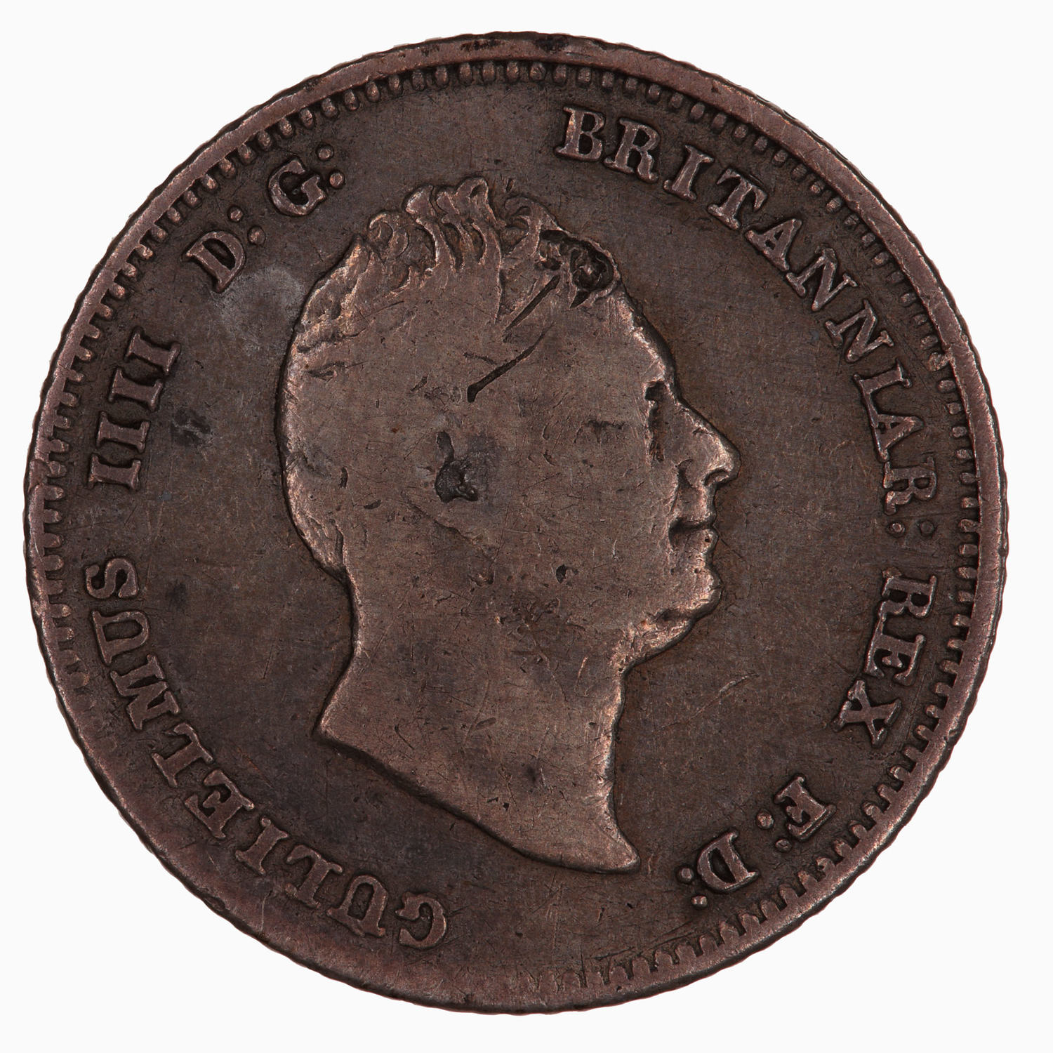 Fourpence 1837 (William IV): Photo Coin - Groat, William IV, Great Britain, 1837